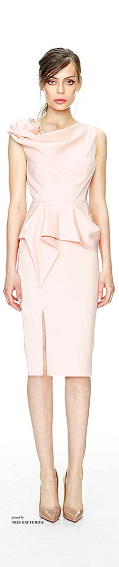 Marchesa Resort 2015 - pale pink dress