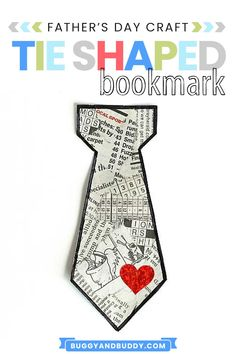 Make this DIY bookmark craft for a Father's Day gift! The tear art aspect gives these tie-shaped bookmarks a really unique look and make a wonderful homemade gift for any father, dad, Grandpa or special person in a child's life. #fathersday #craftsforkids #kidscrafts #homemadegift #diy #bookmark #bookmarkcraft #tearart #artforkids Creative Activities For Kids, Craft Projects For Kids, Arts And Crafts Projects, Craft Activities, Creative Kids, Craft Ideas, Fun Crafts To Do, Holiday Crafts For Kids, Easy Crafts For Kids