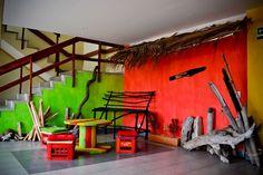 Descanso piso Rasta. El Viajero Hostel San Andrés