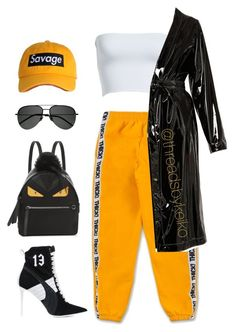 """I counted up a hunnid in the trap "" by threadsbykeiko ❤ liked on Polyvore featuring Puma, Leith, Attico, Fendi and Yves Saint Laurent"