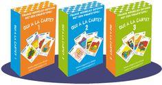 Frans kwartet: de leerlingen moeten een kwartet vormen. Kaarten kunnen ze winnen door op de vragen een juist antwoord te geven. Tijdens het spel mag er alleen maar Frans gesproken worden.