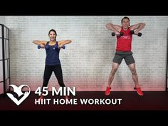 45 Minute HIIT Home Workout with Weights - Total Body 45 Min HIIT Workout with Dumbbells - YouTube