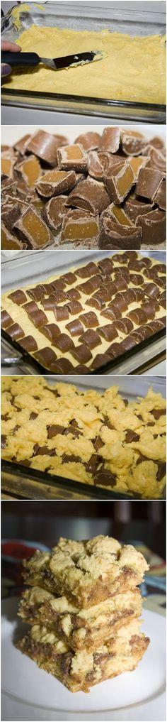 Rolo Cake Bars