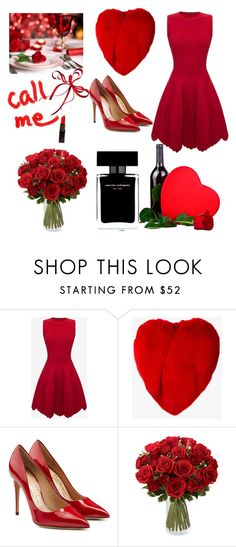 """""""Happy Valentine's Day"""" by juliannedieyi ❤ liked on Polyvore featuring Alexander McQueen, Yves Saint Laurent, Salvatore Ferragamo and Narciso Rodriguez"""