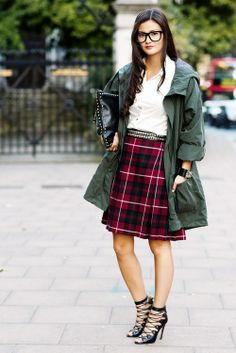 geek chic #style #plaid #fall