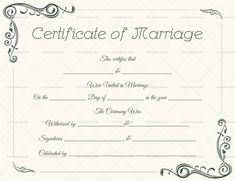 Marriage Certificate Template Doc  Printable Marriage