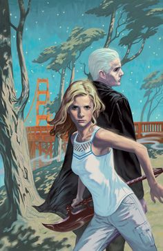 Gallery of comic book cover art for Whedonverse titles like Buffy the Vampire Slayer and Angel & Faith, by Steve Morris. Spike Buffy, Buffy The Vampire Slayer, Darkhorse Comics, Comic Book Covers, Comic Books, Comic Art, Steve Morris, Fangirl, Chibi
