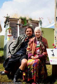 Vivienne Westwood and her husband Andreas Kronthaler in front of the Grow Wild potting she...