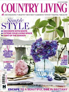 Country Living magazine August 2015 cover countryliving.co.uk