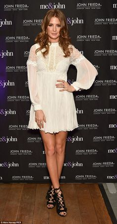 Gorgeous: Millie's second outfit of the night was this cute mini dress and gladiator state...
