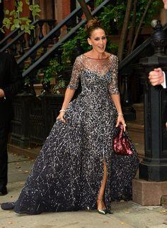 Carrie y su hermoso vestido de noche