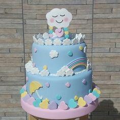 Risultati immagini per chuva de amor Rain Baby Showers, Stork Baby Showers, Baby Shower Cakes, Fondant Cakes, Cupcake Cakes, Baby Girl Cakes, Balloon Cake, Birthday Cake, Birthday Parties