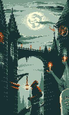 Bloodborne inspired pixel art using the gameboy color palettes. I've been quite enjoying pixel art lately. Pixel Art Gif, Cool Pixel Art, Pixel Art Games, Cool Art, Piskel Art, Arte Dark Souls, Pixel Art Background, Bloodborne Art, 8 Bit Art