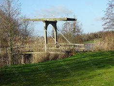 Emmen, houten brug Grote Rietplas.