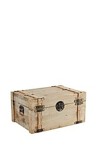LARGE CHESTNUT ROPE STORAGE TRUNK
