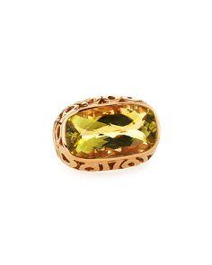 Roberto Coin Mauresque East-West Green Quartz Ring, Women's, Size: S