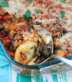 Vegetable Packed Stuffed Shells Recipe - Get the nutritious yet delicious recipe on RachelCooks.com