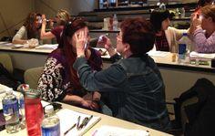 Hands-on Iridology learning - day one #iridology #MartenHouse - April, 2015