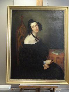 Portrait De Dame De Qualite Huile/toile Ecole Francaise Fin 18ème début 19è