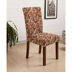 HLW Arbonni Modern Parson Tulip Floral Dining Chairs (Set of 2) - Overstock™ Shopping - Great Deals on Dining Chairs