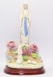 Virgin Mary Statues and St Bernadette Statues from Lourdes. All our statues are in remembrance of the apparitions that took place in Lourdes Virgin Mary Statue, Our Lady Of Lourdes, Saints, Rose, Statues, Color, Pink, Colour, Effigy