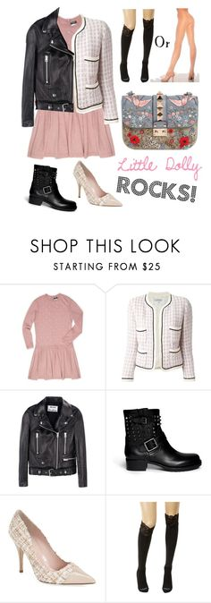 """Rock or classy style?!"" by thebrunettesalad ❤ liked on Polyvore featuring Chanel, Acne Studios, Valentino, Kate Spade and Bootights"