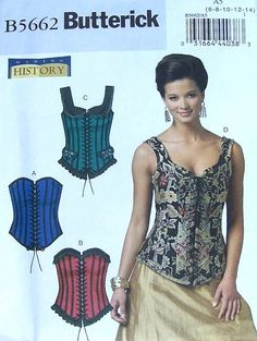 Butterick+Historical+Wench/+Wedding+Corset+Pattern+by+ParisRain,+$11.00