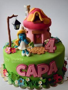 Smurfette cake By Invikta on CakeCentral.com