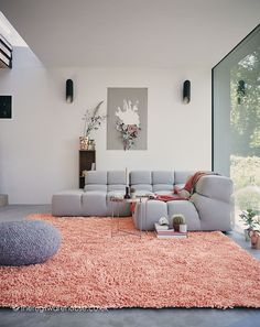 Pink Lagoon Pink Rug - luxury wool & viscose mix shaggy rug http://www.therugswarehouse.co.uk/pearl-lagoon-pink-rug.html