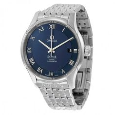 Omega De Ville Co-Axial Chronometer Blue Dial Stainless Steel Men's Watch 43110412103001