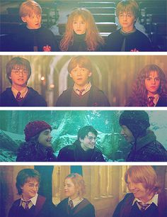 films 1, 2, 3 & 4 of the golden trio!!! these three are adorable :3