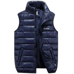 ed1f6e2f848 2018 New Stylish Autumn Winter Vest Men Casual Slim Lightweight Waistcoat  Meneticdress Manteau Parka