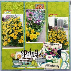 Connie Mercer is bringin' the Spring with this amazing layout using stamps as embellishments. Brilliant!