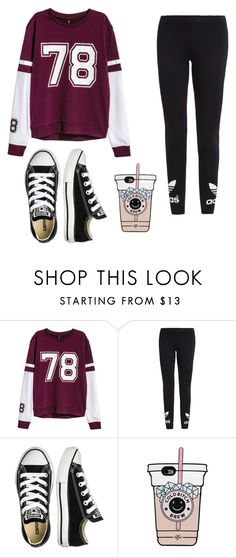 """Без названия #50"" by halissiaelviracra on Polyvore featuring мода, adidas Originals и Converse"