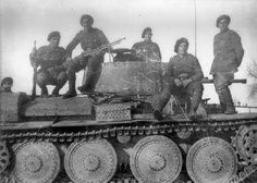 Romanian Mountain troops on a tank, WWII, location unknown, pin by stinky old poop stain Eastern Front Ww2, Ww2 Tanks, Military Photos, Axis Powers, Panzer, Armored Vehicles, Troops, Soldiers, Warfare
