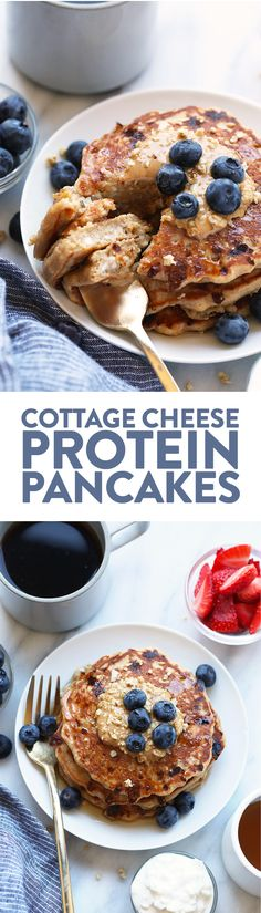Cottage Cheese Protein Pancakes {Video} - Fit Foodie Finds