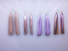 Leather tassel earrings Tassel Earrings Dangle drop