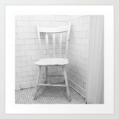 """""""White Chair, White Room"""" by Shy Photog - $19.00 Straight Photography, Traditional, Chair, Room, Furniture, Home Decor, Bedroom, Decoration Home, Room Decor"""