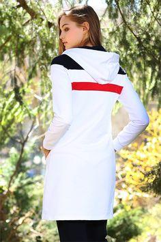 Tommy Life Ön Garnili Beyaz Eşofman Tunik Takım