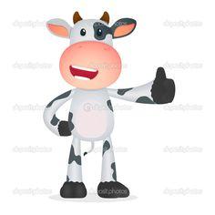 Grappige cartoon koe in verschillende poses — Stockillustratie #7528633