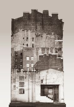 """Large scale architectural collages by Anastasia Savinova. Each collage is meant to reveal """"spirit"""" of a particular country or city. Russia / other side of St Petersburg /anastasiasavinova.com/"""
