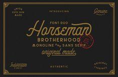 Horseman Font Duo - Script