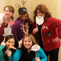 Having some Christmas fun before of Christmas Party.