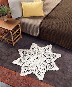 Crochet at Home book - Chunky doily rug