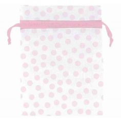 Pink Dots Organza Bags | 12ct for $4.25