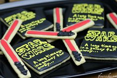 Star Wars Sugar Cookies & Royal Icing Recipe. May the Shwartz Be With You.