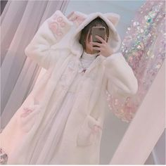 Kawaii Winter Bear Hooded Warm Coat sold by Harajuku fashion. Shop more products from Harajuku fashion on Storenvy, the home of independent small businesses all over the world. Harajuku Fashion, Kawaii Fashion, Cute Fashion, Fashion Outfits, Fashion Trends, Fashion Coat, Japanese Hoodie, Kawaii Hoodie, Mode Lolita