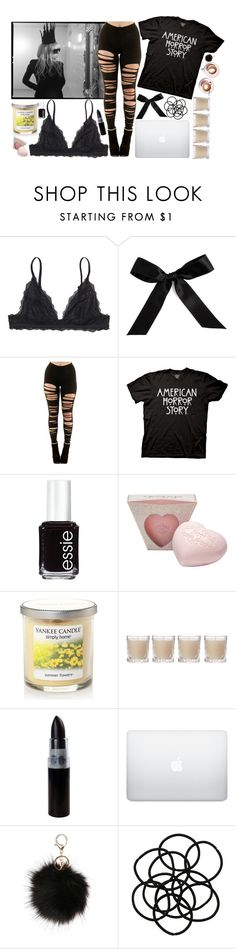 """""""American Horror Story"""" by starchildx ❤ liked on Polyvore featuring Lauren Ralph Lauren, Monki, Bocage, Essie, Martha Stewart, Yankee Candle and Shabby Chic"""