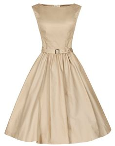 Lindy Bop 'Audrey' Hepburn Style Vintage 1950's Pastel Rockabilly Swing Dress at Amazon Women's Clothing store: