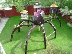Giant Spider Playground ~ 10 Ridiculously Cool Playgrounds Part 2 Cool Playgrounds, Playground Design, Children Playground, Playground Ideas, Front Yard Design, Learning Spaces, Parcs, Outdoor Projects, Backyard Landscaping